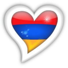 Armenia Flag Heart