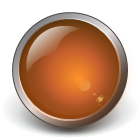 orange glass button