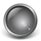 gray glass button