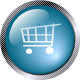 square glass shopping cart icon