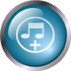 square glass music icon