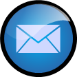 round glass email icon