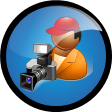 round glass camera icon