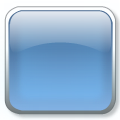 square 3D glass icon blue