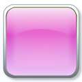 square 3D glass icon pink