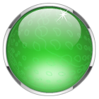green glass ball button