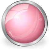 glass shiny pink ball icon