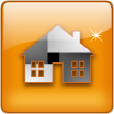 square glass home icon