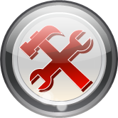 glass round tools icon
