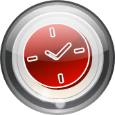 glass round clock icon