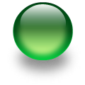 glass ball green