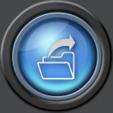 glass round folder icon