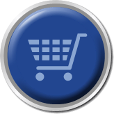 round shiny blue button shopping cart