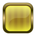 square glass metal button yellow