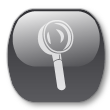 oval glass magnify icon